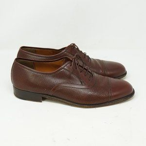 Salvatore Ferragamo Cap Toe Brown Leather 10.5 EE